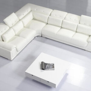 Interesting-White-Coffee-Table-and-Modern-Sectional-Sofas-on-White-Lmainate-Flooring-for-Stunning-Room